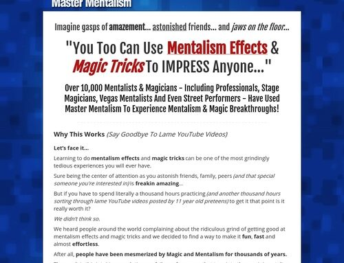 Master Mentalism | How To Do Mentalism Effects & Magic Tricks.