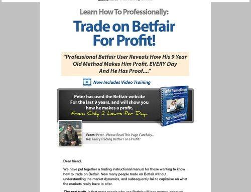 Pete's Betfair Methods – Professional Betfair Training System