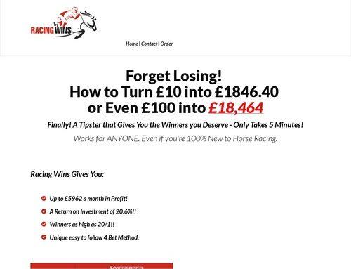 Racing Winner – New Horse Racing Launch Starts 11th May!