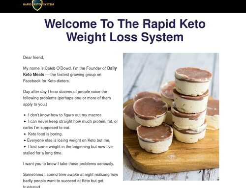 Special Offer – Rapid Keto System