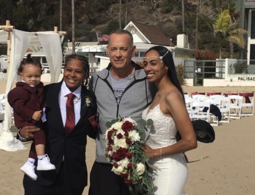 Video shows Tom Hanks 'crashing' couple's wedding in Santa Monica