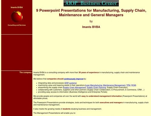 Powerpoint presentations for managers.