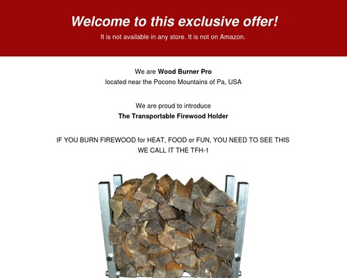 Transportable Firewood Holder/Affiliate – Wood Burner Pro
